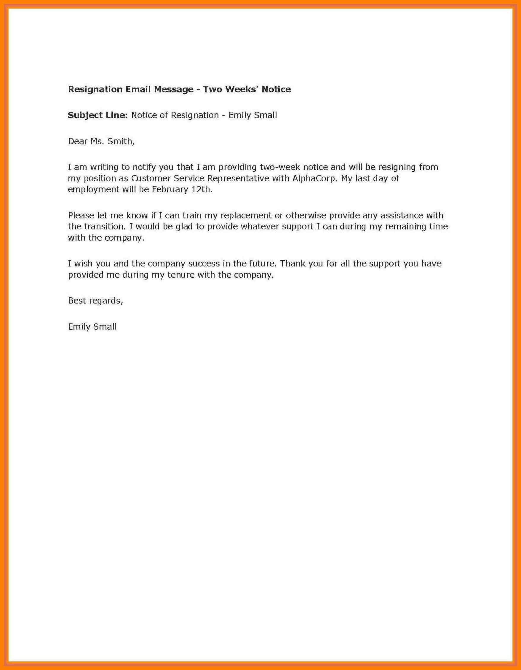 002 Week Notice Template Word Ideas Two Weeks Letter Example Throughout 2 Weeks Notice Template Word