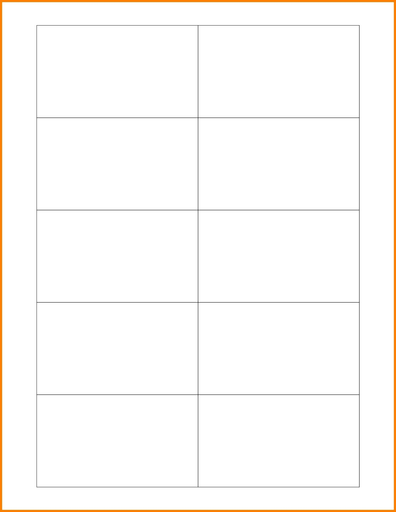 006 Template Ideas Index Card Word Flash Free Chinese For 3X5 Blank Index Card Template