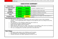 014 Template Ideas Project Progress Report 20Project Within in Closure Report Template