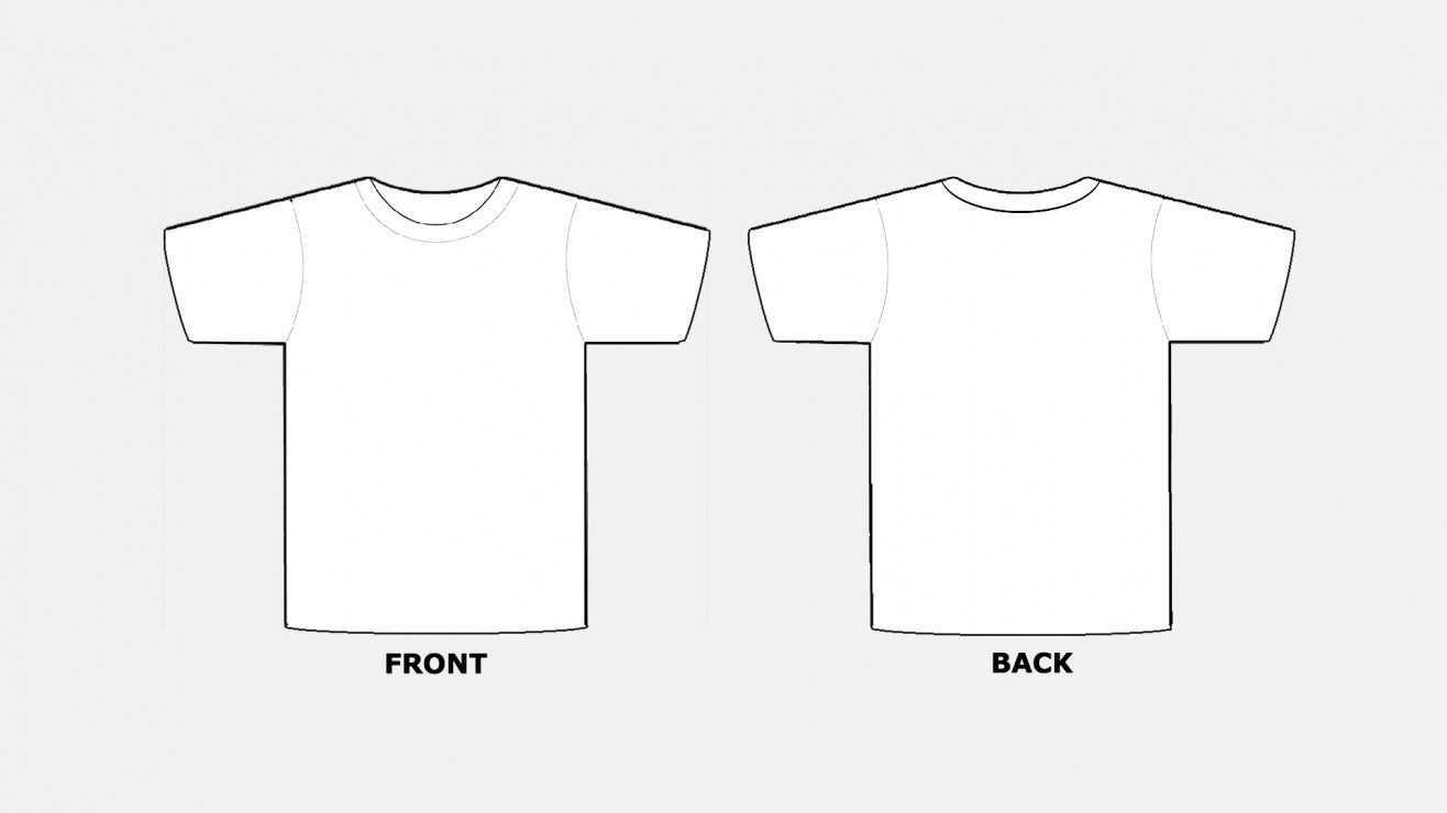 018 Blank Tshirt Template Pdf T Shirt Templates Free In Within Blank Tshirt Template Pdf