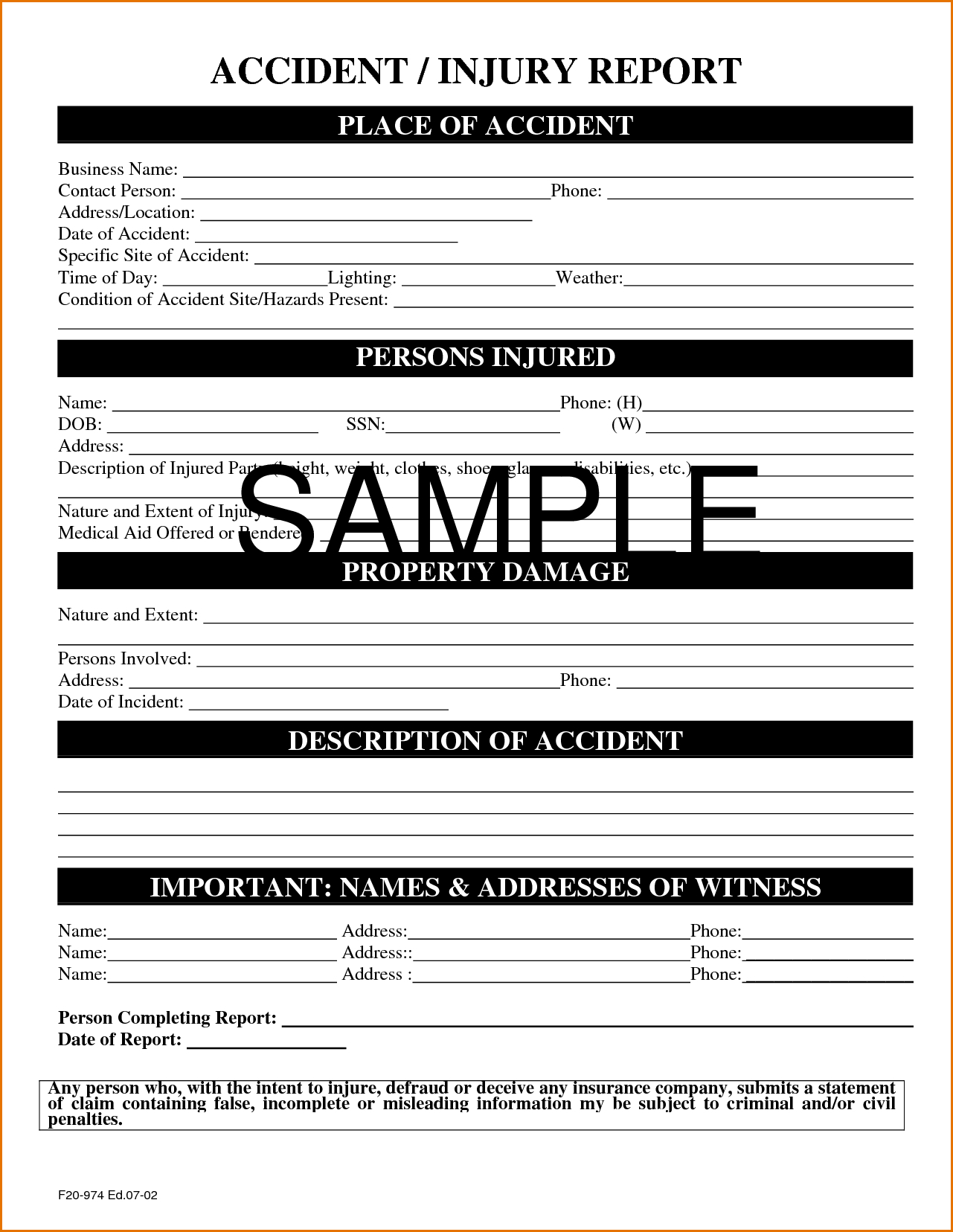 incident report template itil professional template
