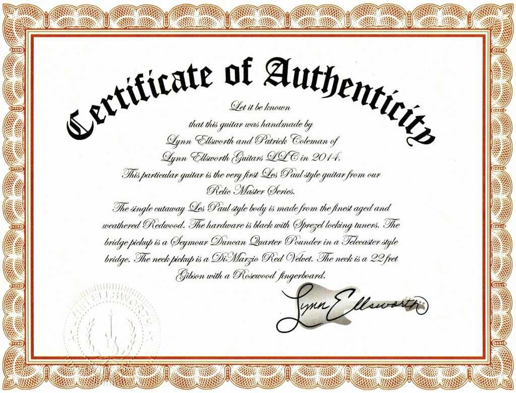 10 Authenticity Certificate Templates   Proposal Sample For Photography Certificate Of Authenticity Template