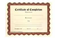 10 Certificate Of Completion Templates Free Download Images intended for Free Certificate Of Completion Template Word