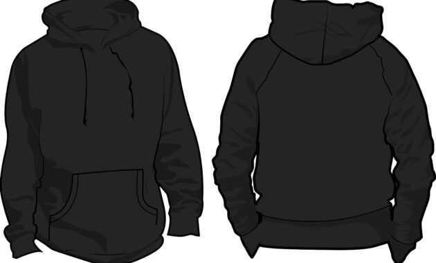 10 Pullover Hoodie Template Images - Black Blank Hoodie with Blank Black Hoodie Template