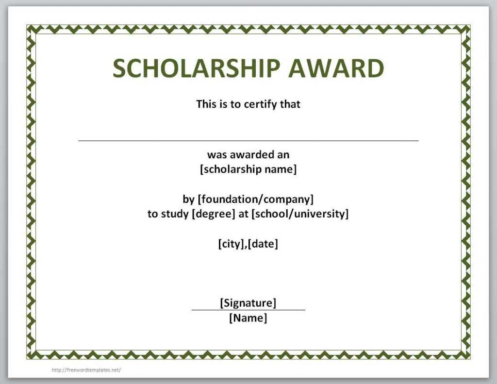 10+ Scholarship Award Certificate Examples - Pdf, Psd, Ai In Scholarship Certificate Template