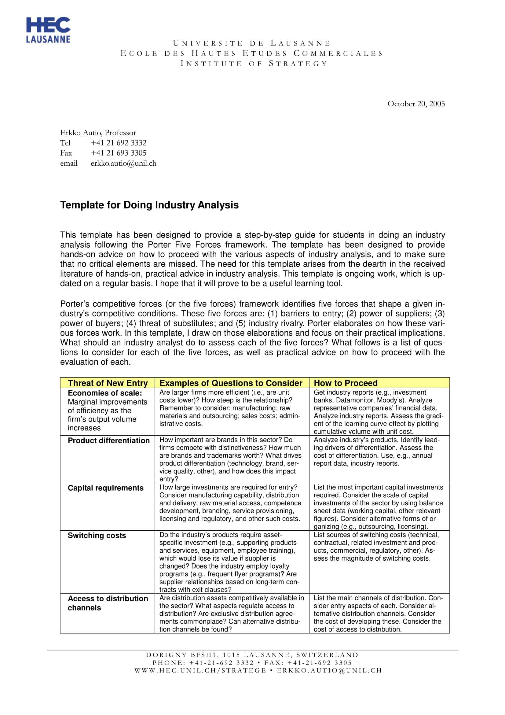 11+ Industry Analysis Examples - Pdf | Examples With Industry Analysis Report Template