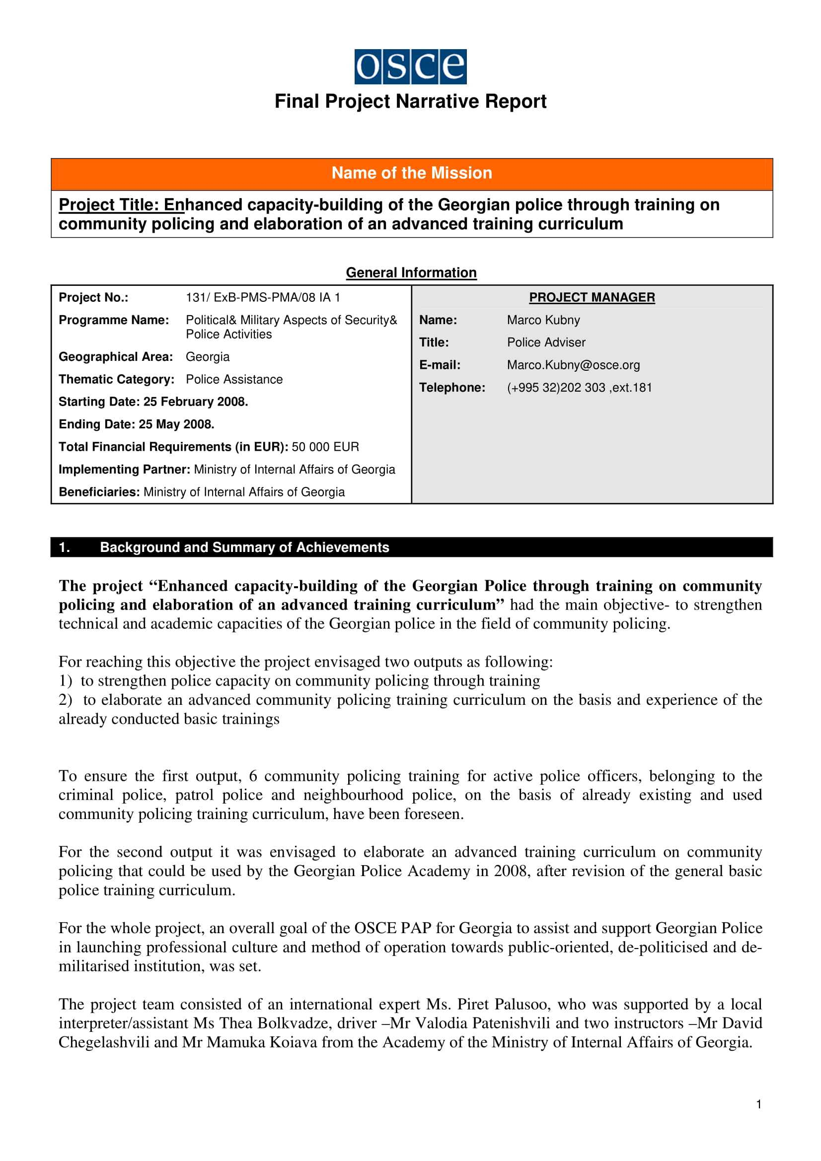 11+ Narrative Report Examples – Pdf | Examples Inside After Training Report Template