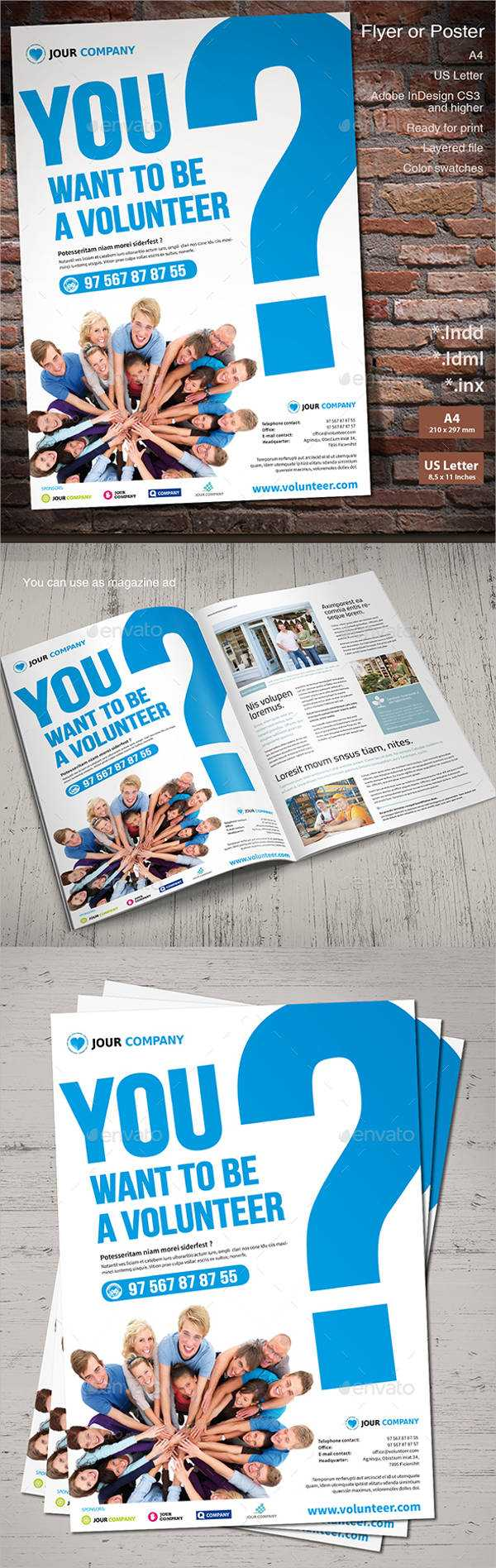 11+ Volunteer Flyers - Ms Word, Pages, Psd, Vector Eps Intended For Volunteer Brochure Template