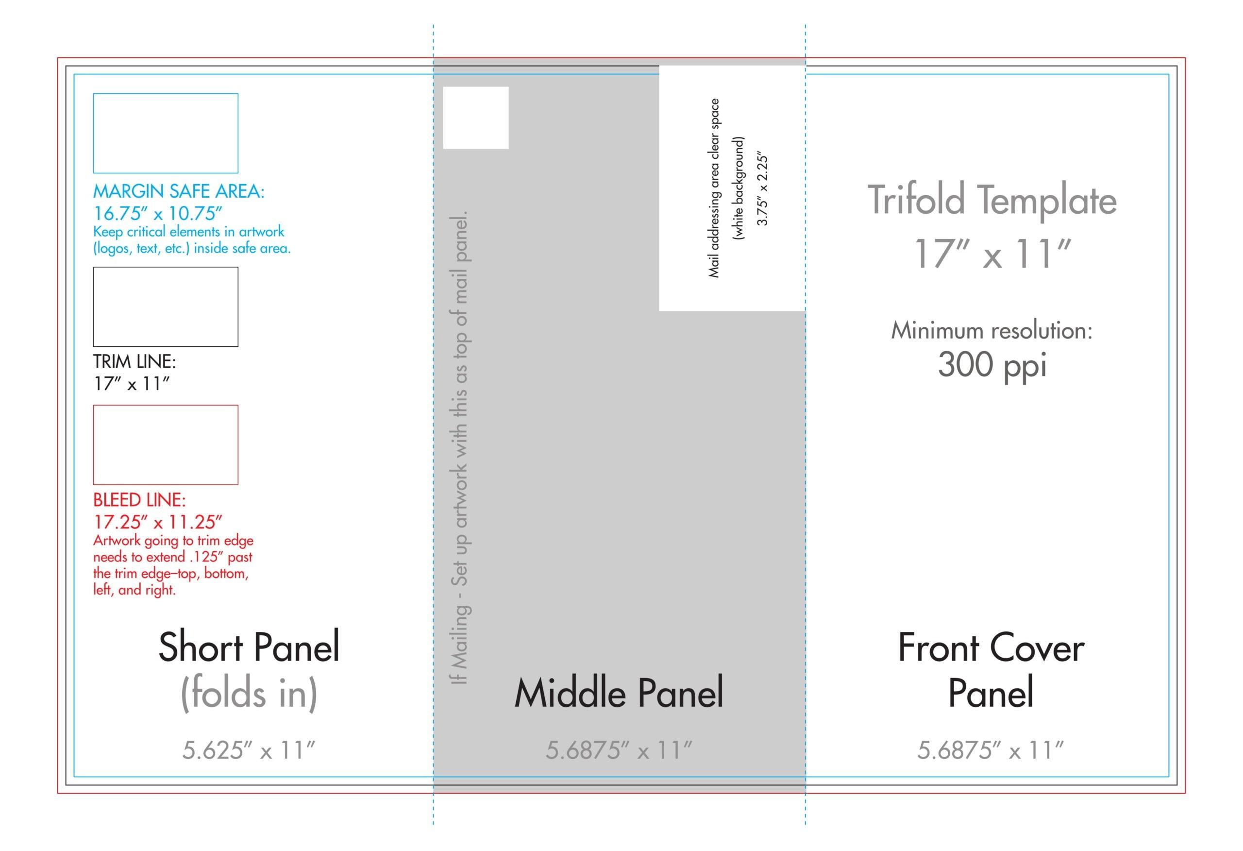 "11"" X 17"" Tri Fold Brochure Template - U.s. Press Regarding 11X17 Brochure Template"