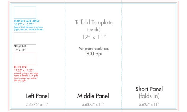 "11"" X 17"" Tri Fold Brochure Template - U.s. Press with regard to 11X17 Brochure Template"