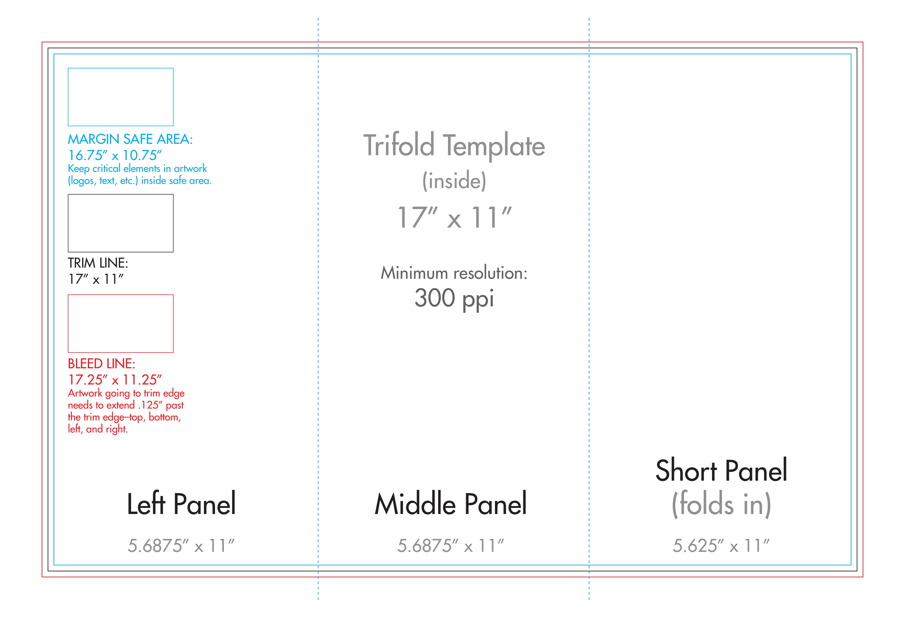 "11"" X 17"" Tri Fold Brochure Template - U.s. Press With Regard To 11X17 Brochure Template"