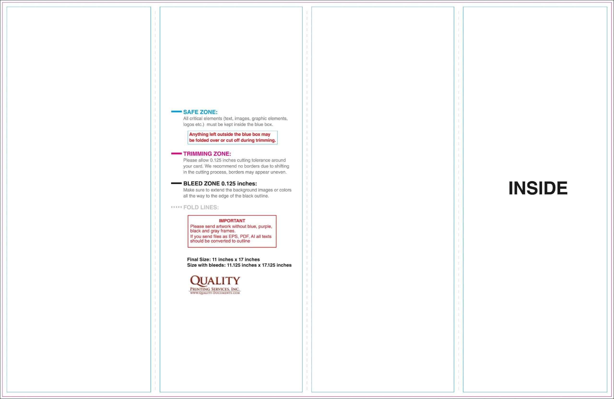 11X17 Brochure Templates for 11X17 Brochure Template