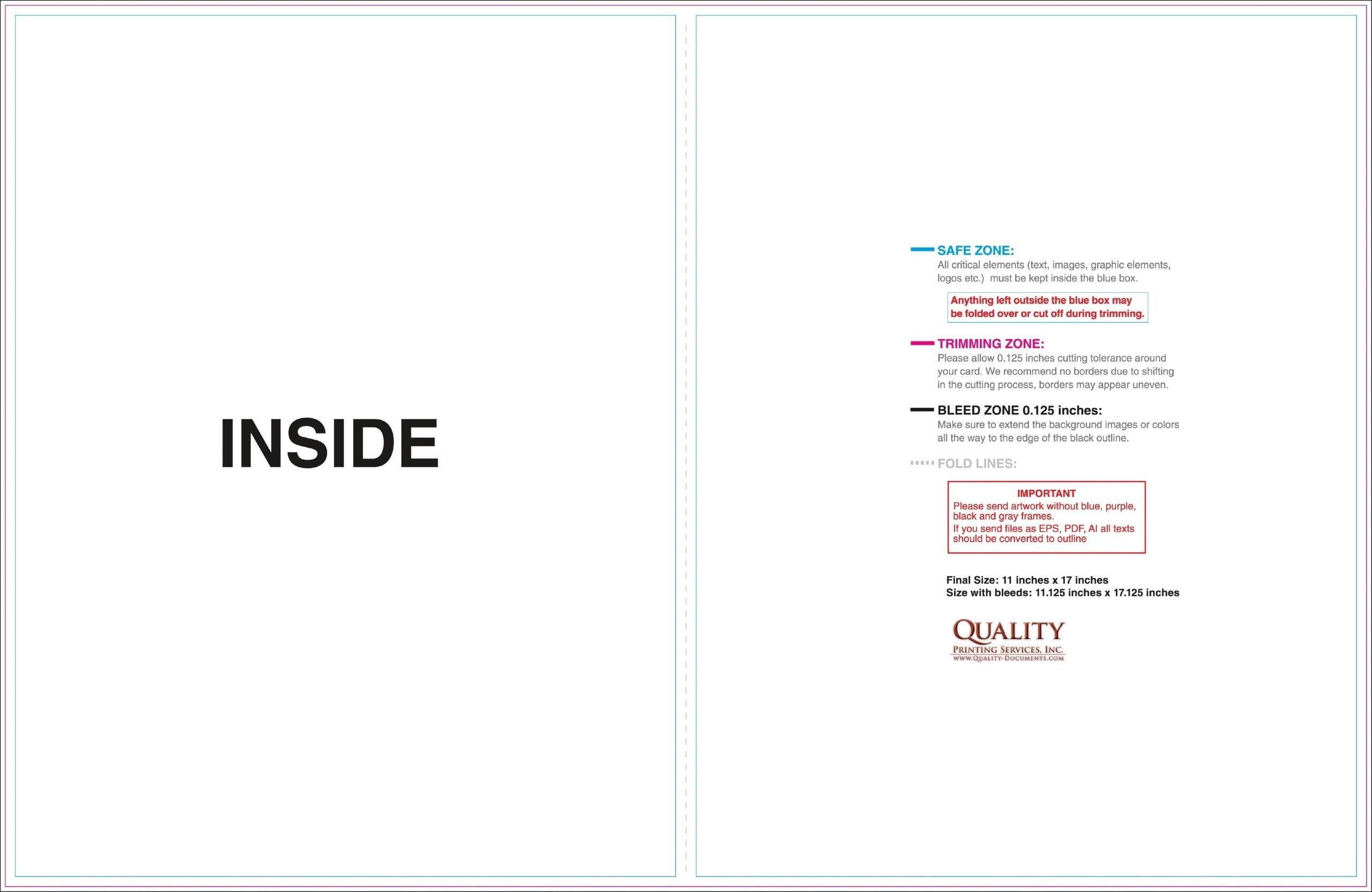 11×17 Half Fold Brochure Template Jparryhill - Carlynstudio regarding 11X17 Brochure Template