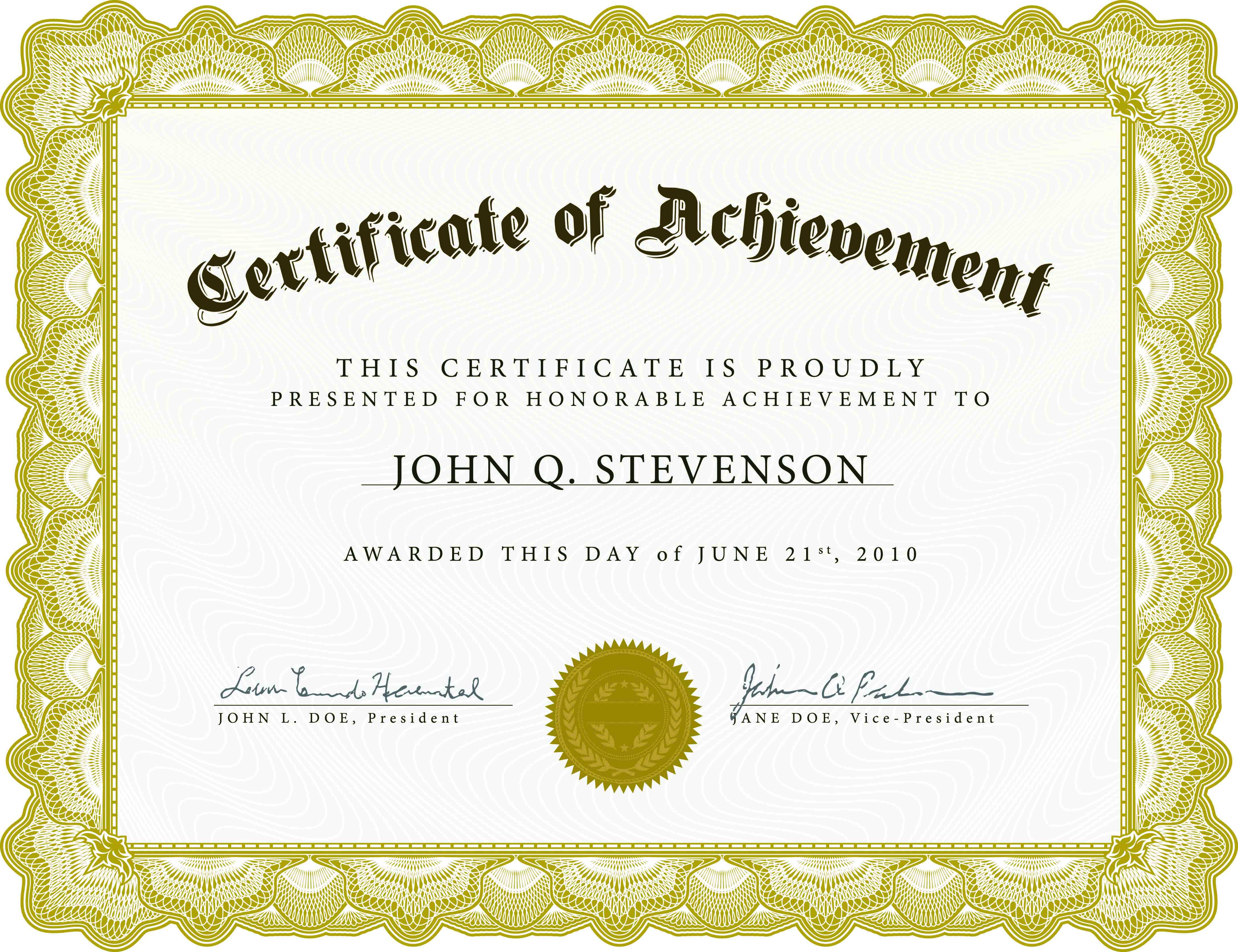 12 Certificate Templates Free Downloads Images - Completion With Certificate Templates For Word Free Downloads
