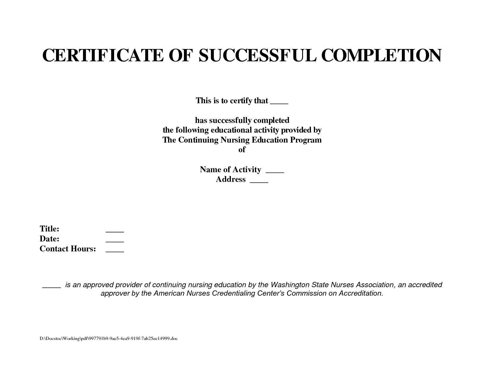 12 Samples Of Certificates Of Completion   Proposal Resume Throughout Certificate Template For Project Completion