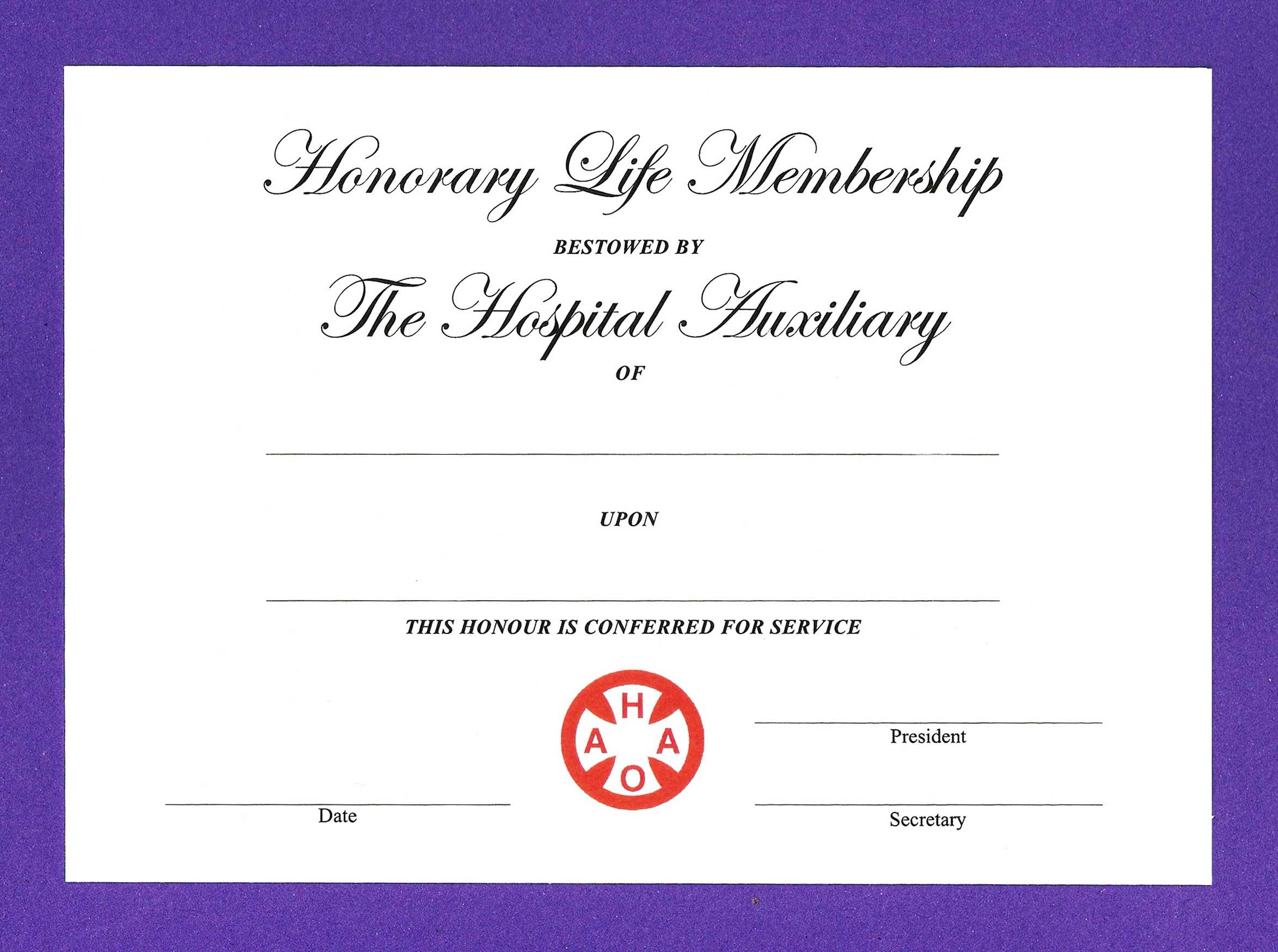 14+ Honorary Life Certificate Templates - Pdf, Docx | Free Throughout New Member Certificate Template