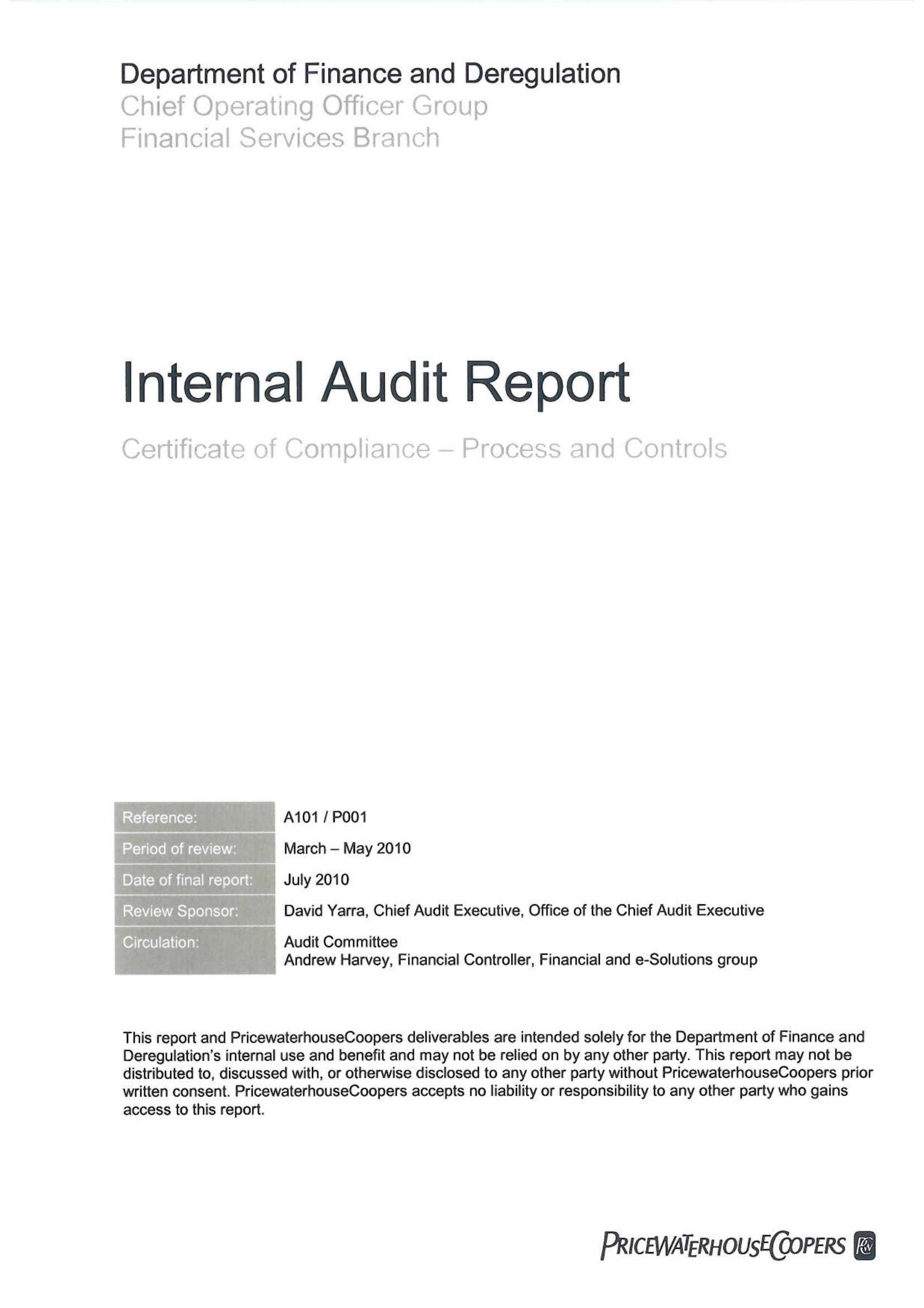 14+ Internal Audit Report Examples - Pdf, Word | Examples Within Internal Control Audit Report Template
