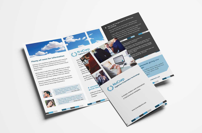 15 Free Tri Fold Brochure Templates In Psd & Vector With Regard To Adobe Tri Fold Brochure Template
