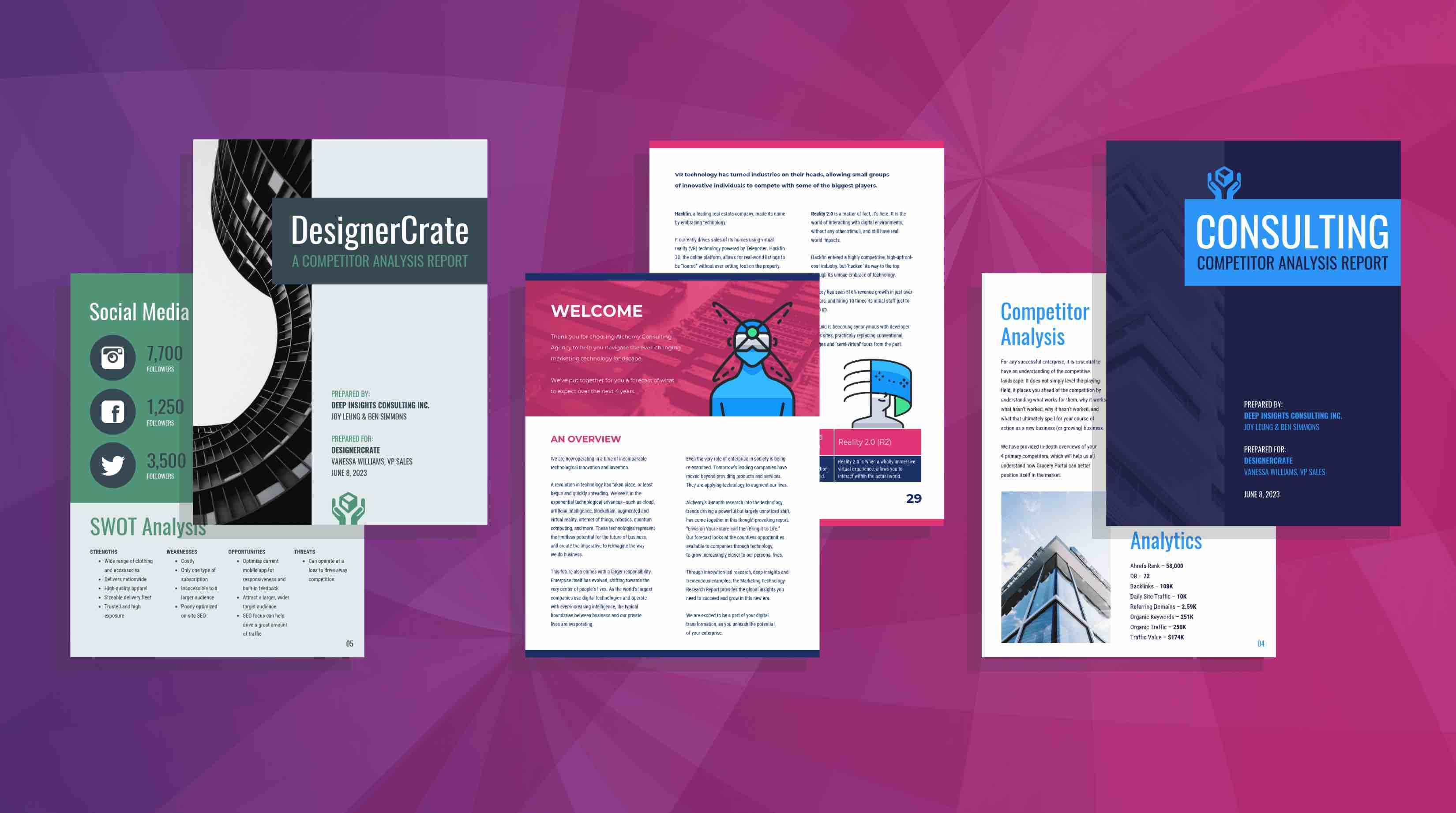 19 Consulting Report Templates That Every Consultant Needs Throughout Quarter Sheet Flyer Template Word