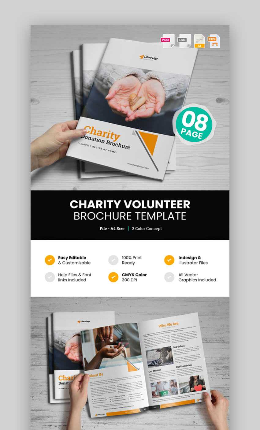 20 Best Professional Business Brochure Design Templates For 2019 pertaining to Volunteer Brochure Template