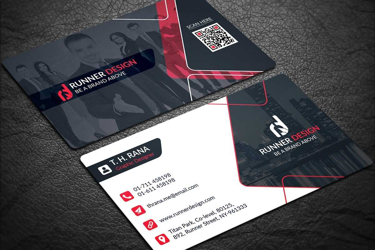 200 Free Business Cards Psd Templates - Creativetacos Inside Name Card Template Psd Free Download