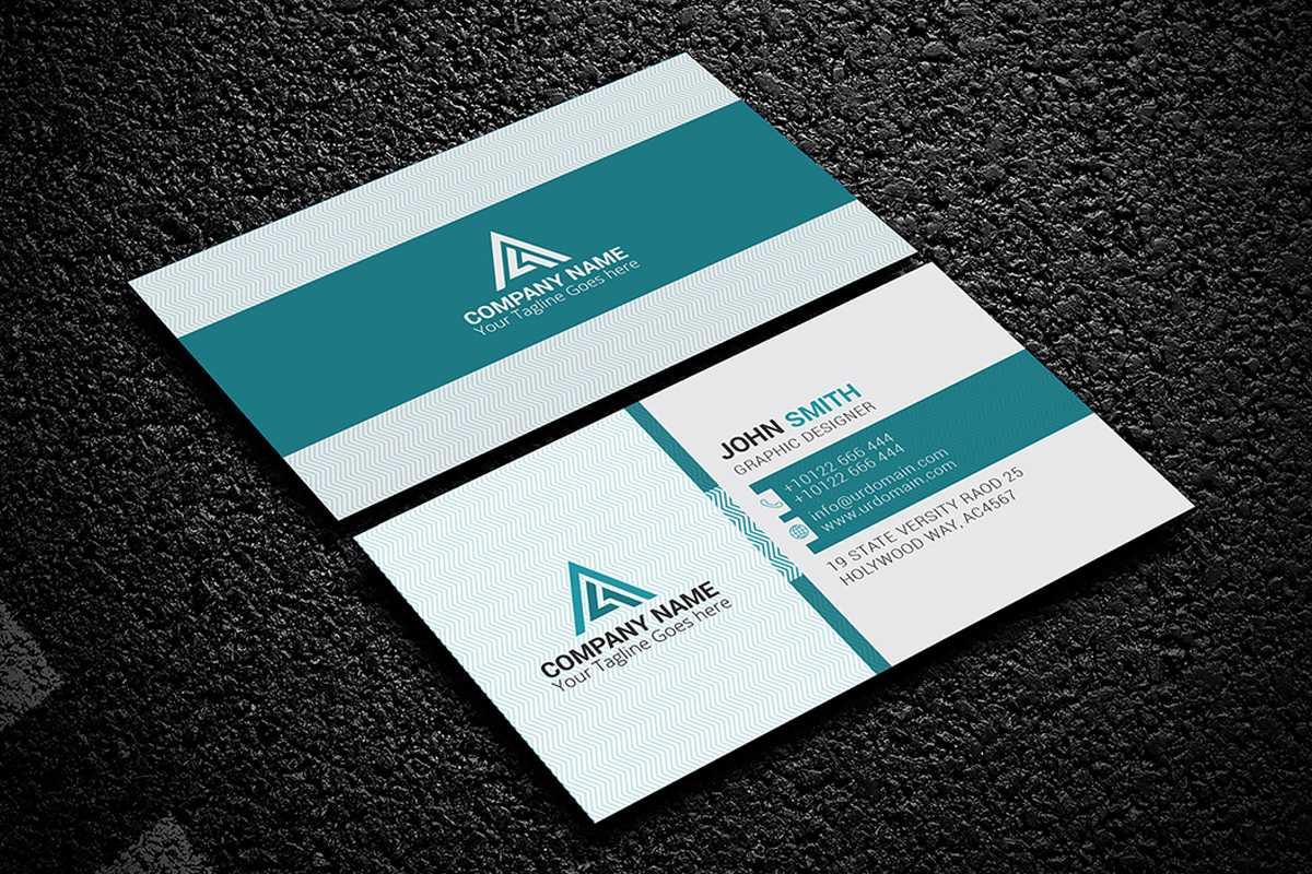 200 Free Business Cards Psd Templates - Creativetacos Pertaining To Psd Name Card Template