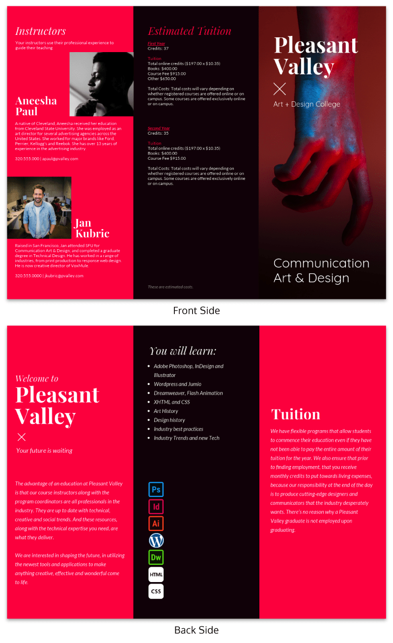 21 Brochure Templates And Design Tips To Promote Your With 12 Page Brochure Template