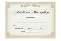 25 Useful Resources Of Certificate Of Recognition Template within Printable Certificate Of Recognition Templates Free