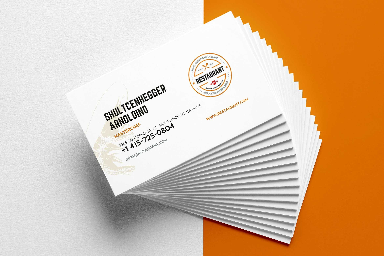27+ Creative Restaurant Business Card Templates - Ai, Apple Throughout Food Business Cards Templates Free