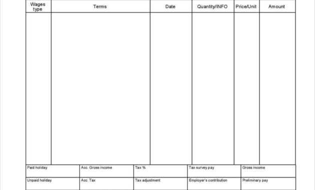 27+ Free Pay Stub Templates - Pdf, Doc, Xls Format Download in Pay Stub Template Word Document