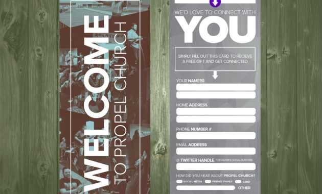 3.5×9 Psd Connection Card Template | Church Visitor Ideas regarding Church Visitor Card Template Word