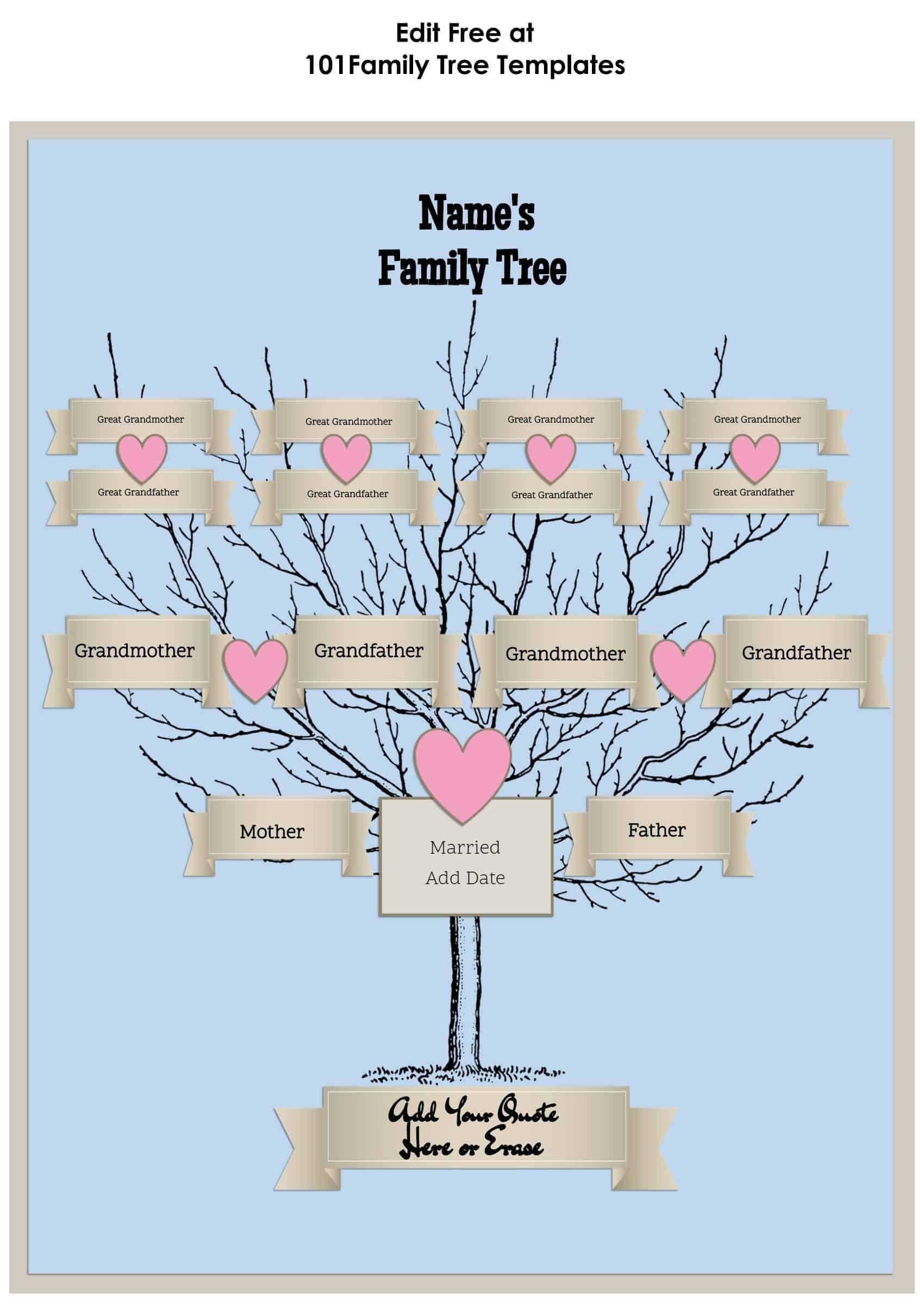 3 Generation Family Tree Generator | All Templates Are Free Throughout 3 Generation Family Tree Template Word