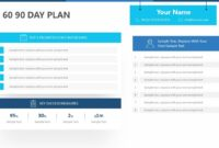 30 60 90 Day Plan For Powerpoint – Pslides Inside 30 60 90 Day Plan Template Powerpoint