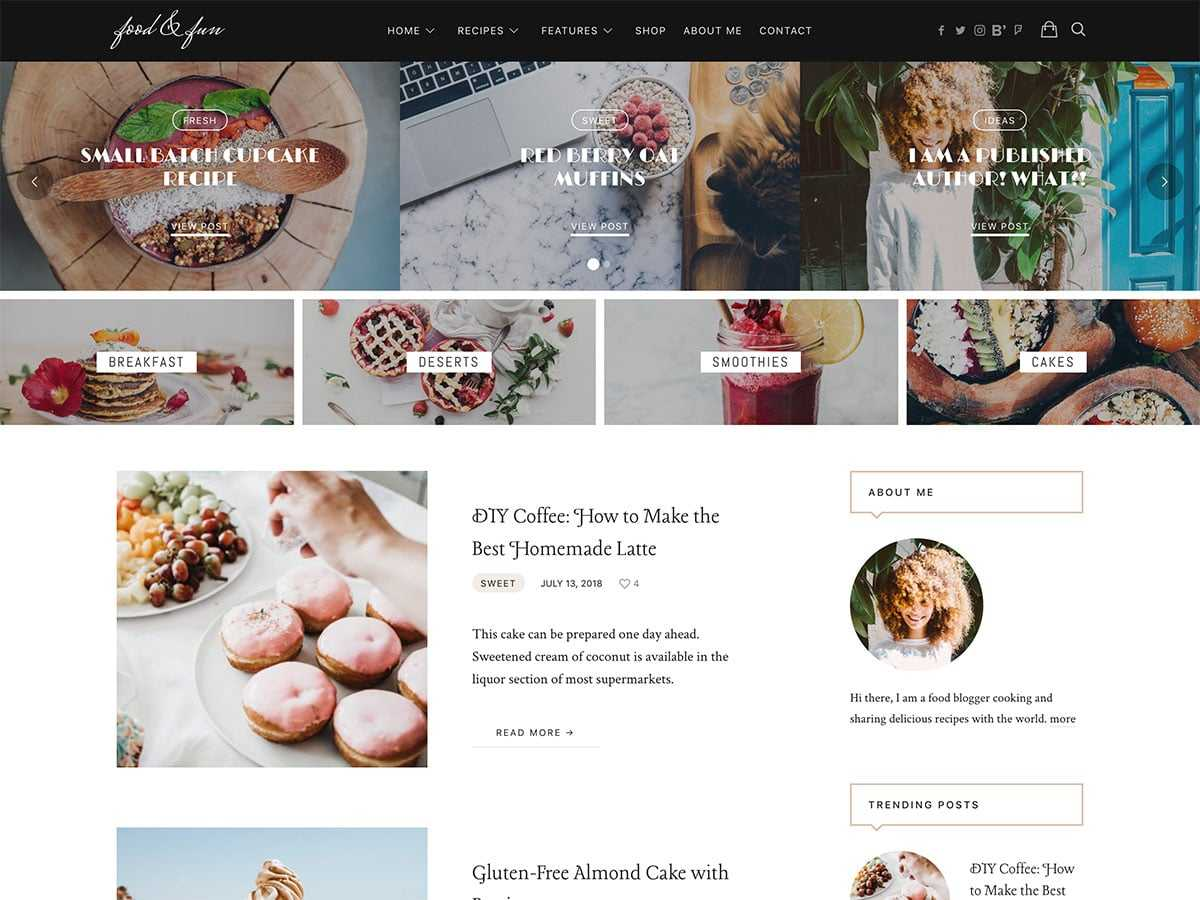 30+ Best Food WordPress Themes For Sharing Recipes 2019 With Regard To Blank Food Web Template