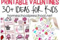 30+ Free Printable Valentine Card Ideas For Preschool intended for Valentine Card Template For Kids
