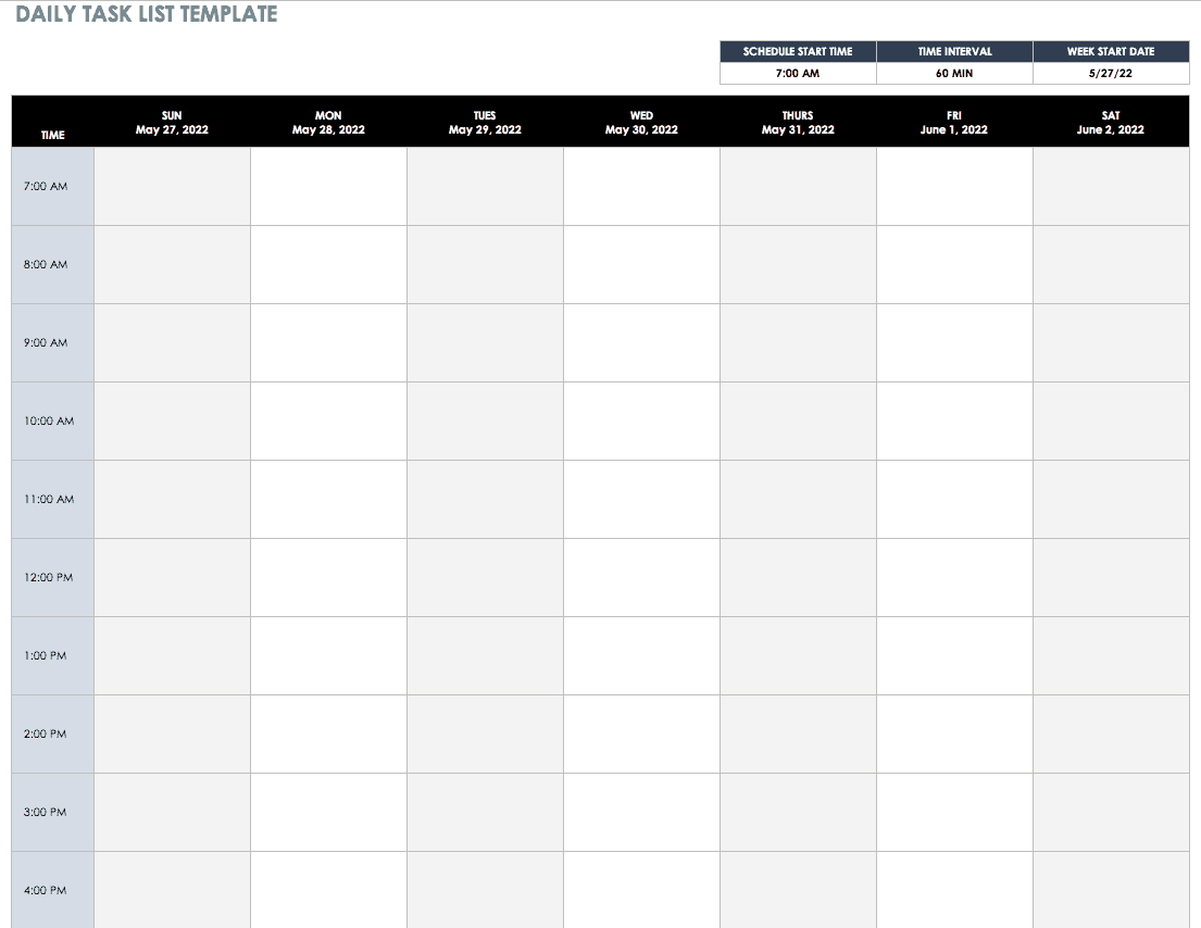 30+ Free Task And Checklist Templates | Smartsheet Within Daily Task List Template Word