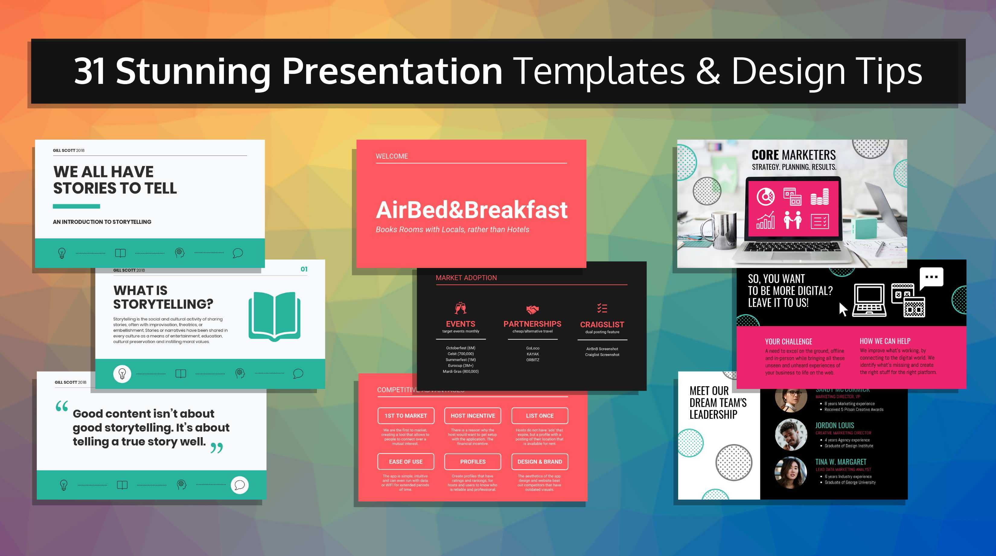 31 Stunning Presentation Templates And Design Tips Intended For Sample Templates For Powerpoint Presentation