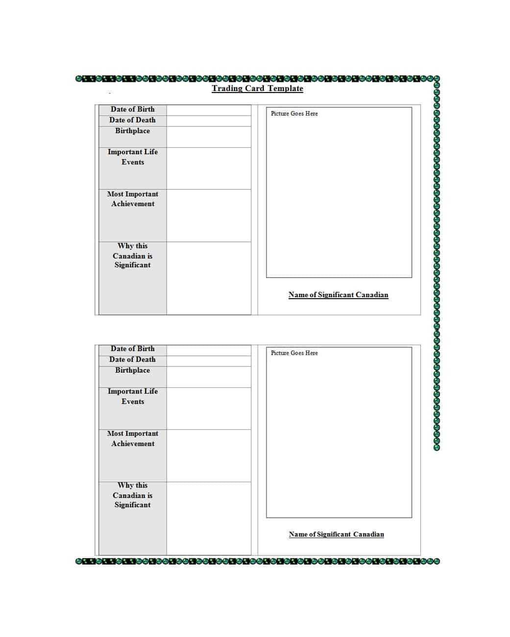 33 Free Trading Card Templates (Baseball, Football, Etc With Free Trading Card Template Download
