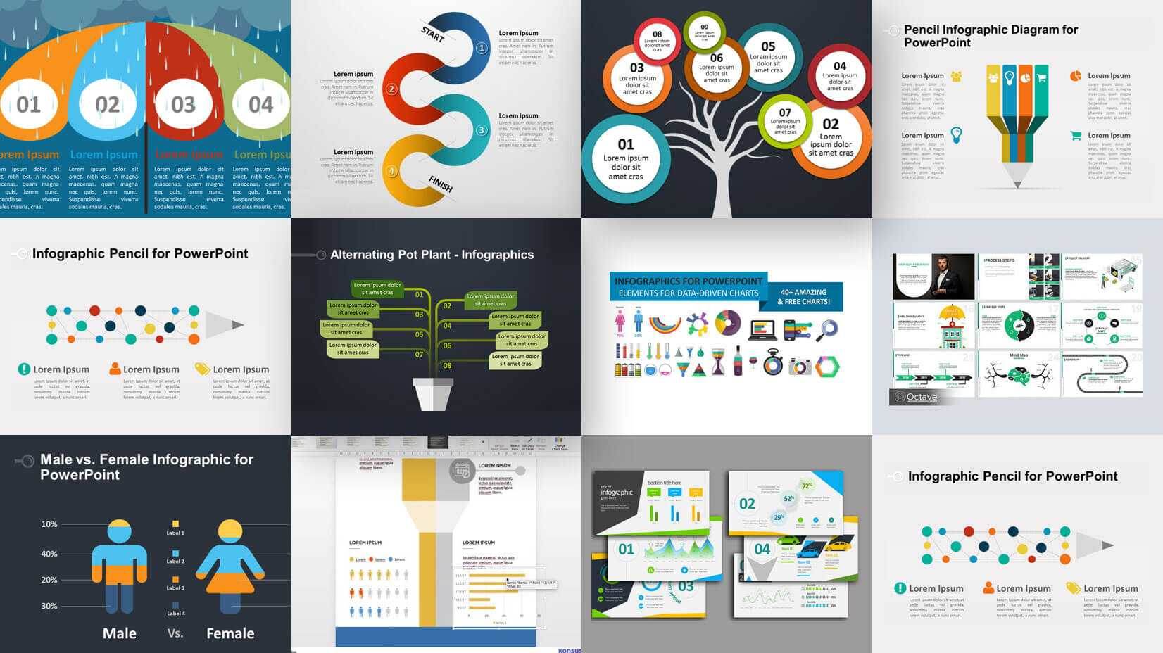 35+ Free Infographic Powerpoint Templates To Power Your In Sample Templates For Powerpoint Presentation
