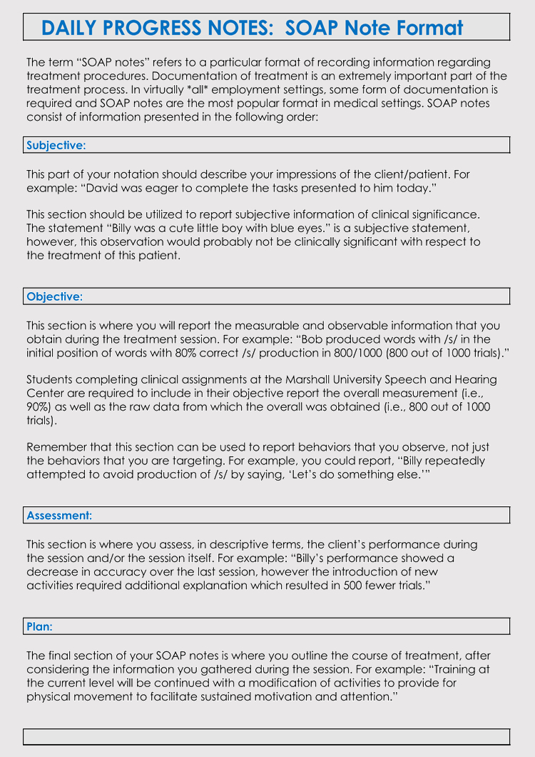35+ Soap Note Examples (Blank Formats & Writing Tips) With Regard To Soap Note Template Word