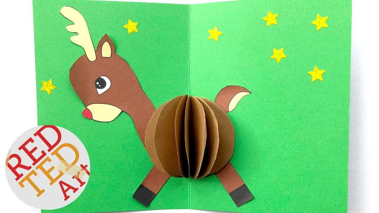 3D Christmas Card Diy - Easy Rudolph Pop Up Card - Templates - Paper Crafts Intended For Diy Christmas Card Templates