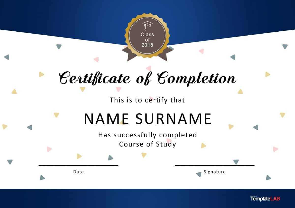 40 Fantastic Certificate Of Completion Templates [Word For Certificate Templates For Word Free Downloads
