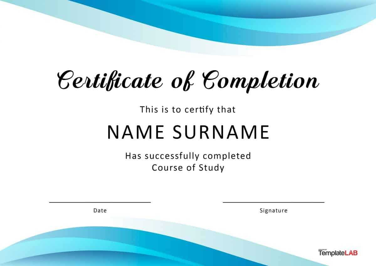 40 Fantastic Certificate Of Completion Templates [Word Within Certification Of Completion Template