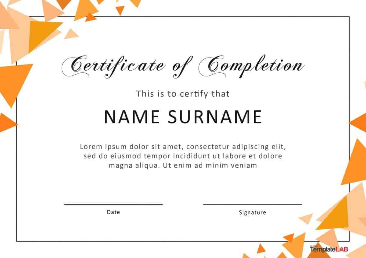 40 Fantastic Certificate Of Completion Templates [Word Within Word 2013 Certificate Template