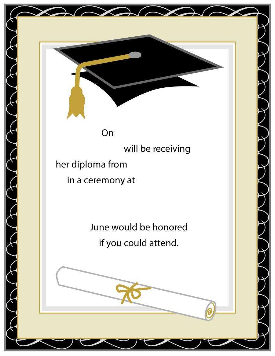 40+ Free Graduation Invitation Templates ᐅ Template Lab With Graduation Invitation Templates Microsoft Word