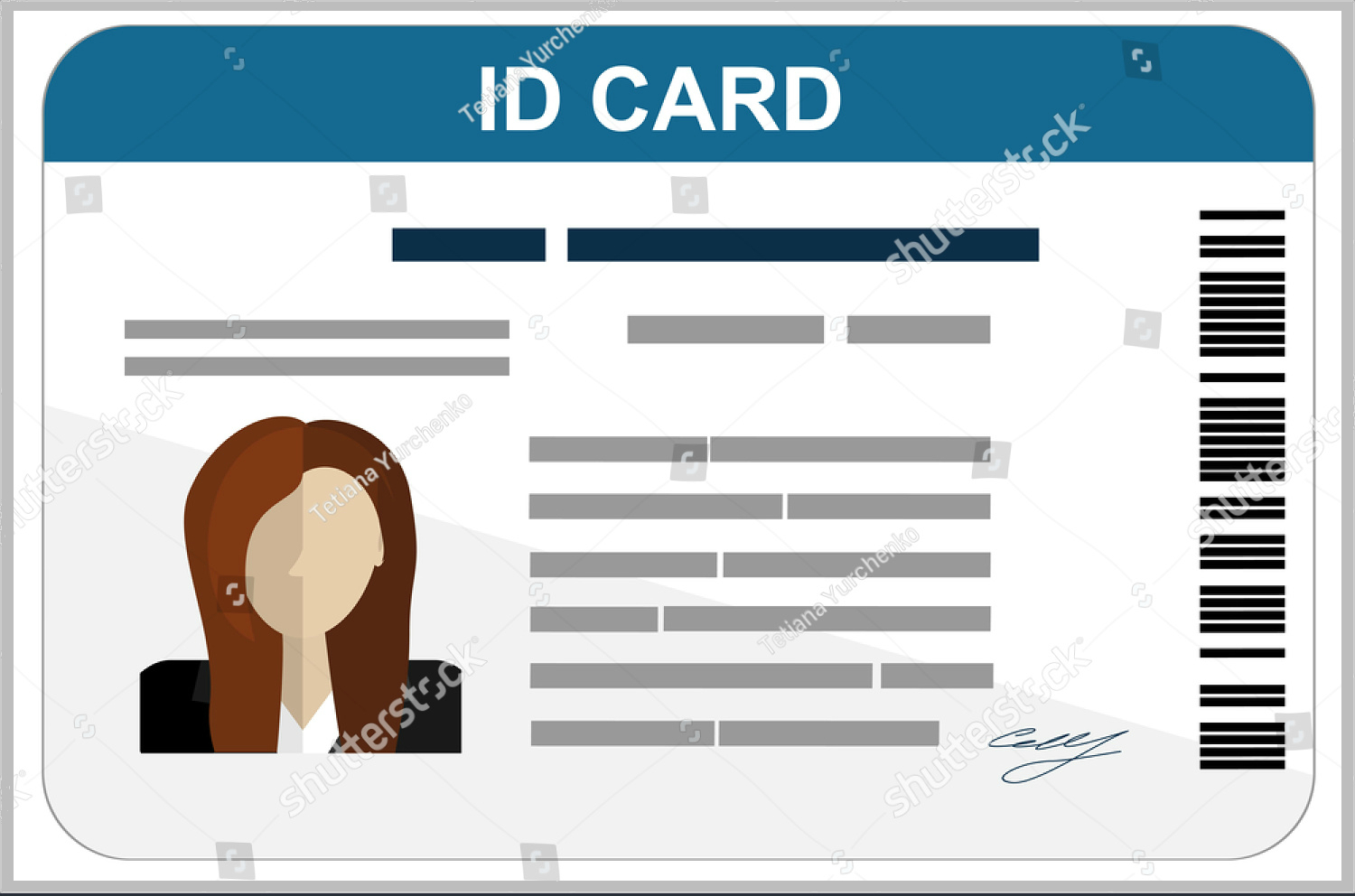 43+ Professional Id Card Designs – Psd, Eps, Ai, Word | Free Pertaining To Id Card Template For Kids