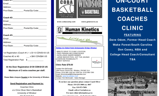 5 Best Images Of Basketball Camp Brochure - Basketball Camp inside Basketball Camp Brochure Template