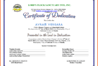 5+ Dedication Certificate Template | Iwsp5 within Baby Dedication Certificate Template