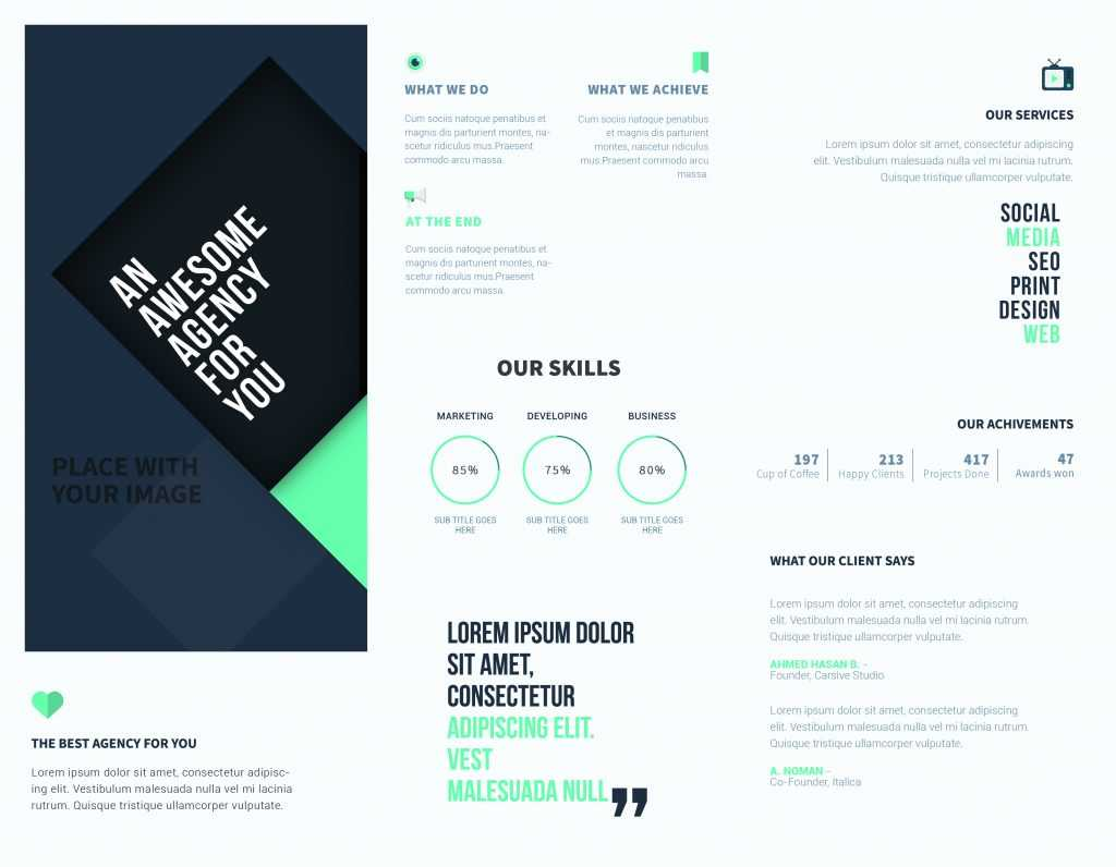 5 Free Online Brochure Templates To Create Your Own Brochure   Inside Free Online Tri Fold Brochure Template