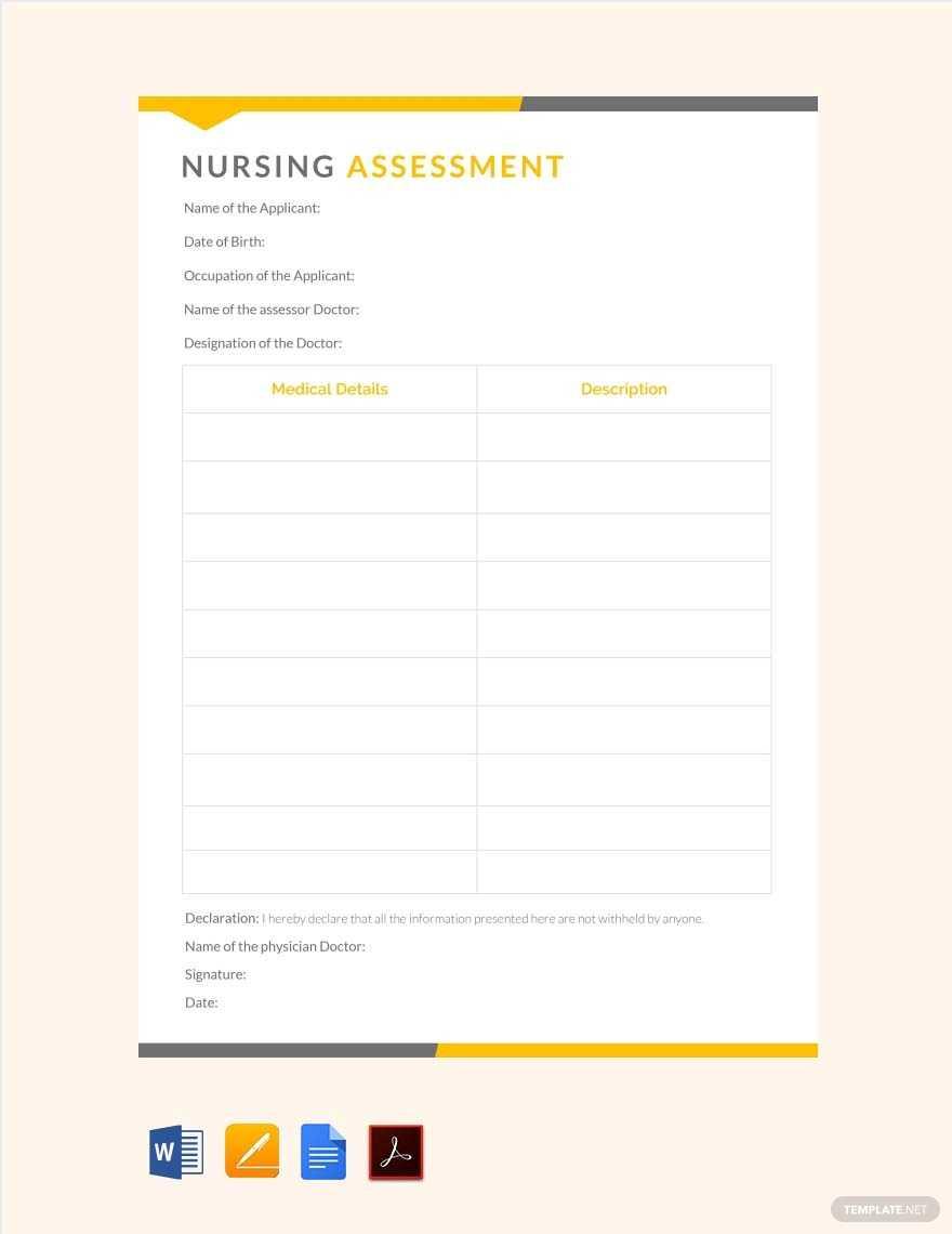 5+ Nursing Care Plan Templates In Word, Pdf, Apple Pages In Nursing Care Plan Template Word